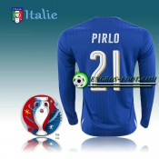 FR Maillot Foot Italie Manche Longue Domicile - PIRLO 21