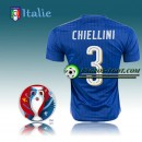 Maillot Euro 2016 Foot Italie Domicile - CHIELLINI 3 Paris Boutique