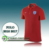 Maillot Polo Equipe de Angleterre Foot Rouge 2016 2017 En Soldes