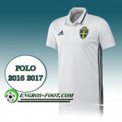Maillot Polo Equipe de Suede Foot Blanc 2016 2017 Soldes Provence