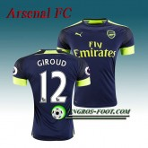 Maillot de Arsenal FC GIROUD 12 Third 2016 2017 Bleu Marine Boutique Paris