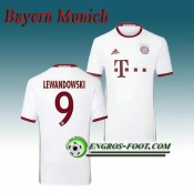 Maillot de FC Bayern Munich LEWANDOWSKI 9 Third 2016 2017 Gris Vendre France