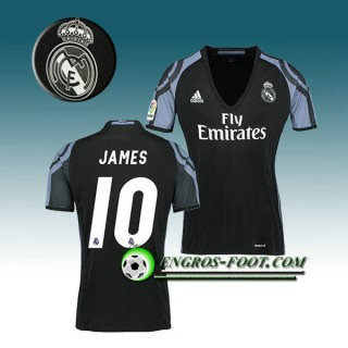 Maillot de Foot Real Madrid Femme JAMES 10 Third 2016 2017 Blanc Escompte En Lgine