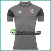 Maillot de Polo Bayern Munich Gris 2016 2017 Réduction Prix