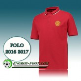 Maillot de Polo Manchester United Foot Rouge 2016 2017 Original