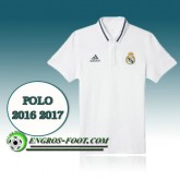 Maillot de Polo Real Madrid Foot Blanc 2016 2017 Pas Cher Nice
