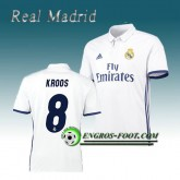 Maillot de Real Madrid KROOS 8 Domicile 2016 2017 Blanc Réduction