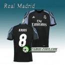 Maillot de Real Madrid KROOS 8 Third 2016 2017 Noir Site Officiel