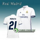 Maillot de Real Madrid MORATA 21 Domicile 2016 2017 Blanc Paris Boutique