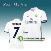 Maillot de Real Madrid RONALDO 7 Domicile 2016 2017 Blanc France Métropolitaine