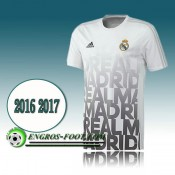 Maillot de Training Real Madrid Blanc PRE-MATCH 2016 2017 Soldes Paris