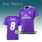 Officielle Maillot de Real Madrid KROOS 8 Exterieur 2016 2017 Pourpre