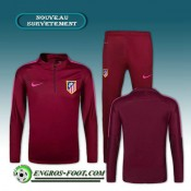 Survetement Foot Atletico Madrid Bordeaux Rouge 2016 2017 Site Francais