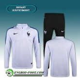 Survetement Foot France Enfant Blanc 2016 2017 Magasin De Sortie