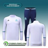 Survetement Foot Marseille OM Blanc 2016 2017 Soldes Paris