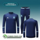 Survetement Foot Marseille OM Bleu Marine 2016 2017 Rabais