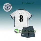 Vente Privée Ensemble Maillot Foot Manchester United Enfant MATA 8 Third 2016 2017 Blanc