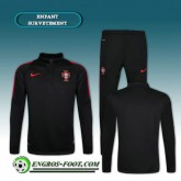 Vente Privee Survetement Foot Portugal Enfant Noir 2016 2017