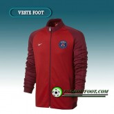 Veste Foot Paris PSG Rouge/Marron 2016 2017 Boutique France
