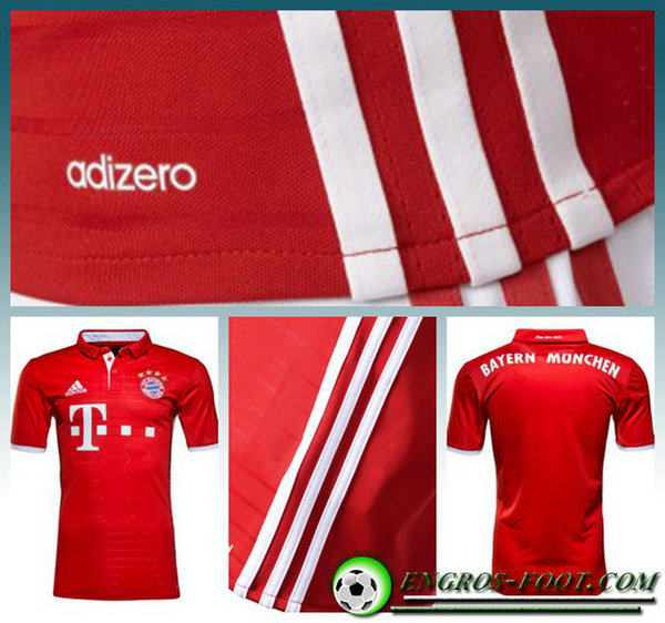 Bayern Maillot ROBBEN 10 Domicile Homme Rouge Manche Courte 2016 2017