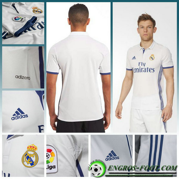 maillot foot real madrid KROOS 8 Domicile Femme Blanc Manche Courte 2016 2017