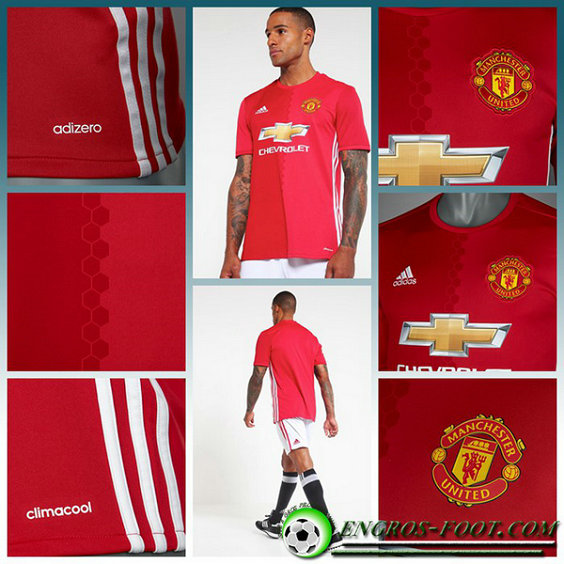 maillot foot manchester united MARTIAL 11 Domicile Homme Rouge Manche Courte 2016 2017
