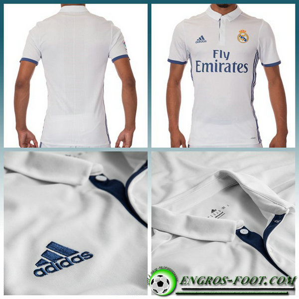 maillot foot real MARCELO 12 Domicile Homme Blanc Manche Courte 2016 2017
