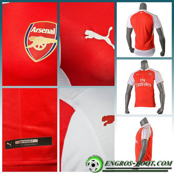 maillot football arsenal GIROUD 12 Domicile Homme Rouge Manche Longue 2016 2017